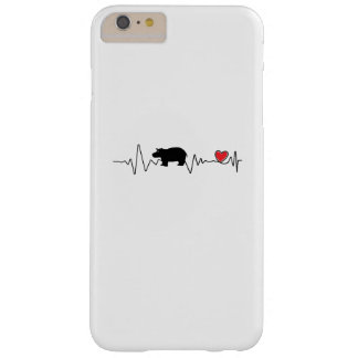 Coque Barely There iPhone 6 Plus Hippopotame d'amour d'hippopotame de bébé de Fiona