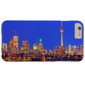Coque Barely There iPhone 6 Plus Horizon du centre de Toronto la nuit