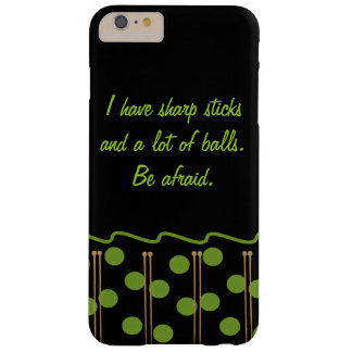 Coque Barely There iPhone 6 Plus iPhone de tricotage d'humour