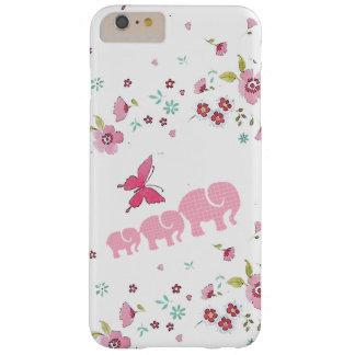 Coque Barely There iPhone 6 Plus iPhone mignon d'éléphant et de fleurs/coque ipad