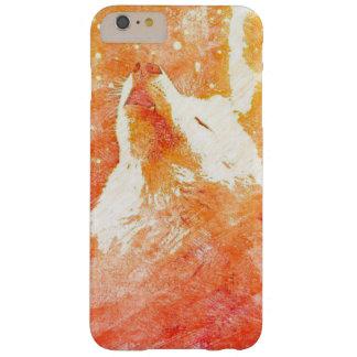 Coque Barely There iPhone 6 Plus iPhone orange 6/6s de loup plus le cas de