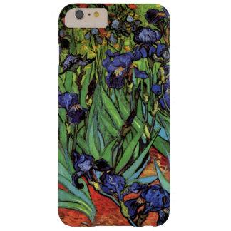Coque Barely There iPhone 6 Plus Iris de Van Gogh, beaux-arts vintages de jardin