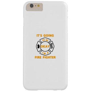 Coque Barely There iPhone 6 Plus Je suis un cadeau drôle en chef d'homme du feu de