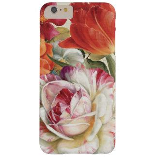 Coque Barely There iPhone 6 Plus La vue de jardin a jeté des fleurs en l'air