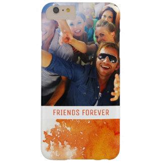 Coque Barely There iPhone 6 Plus L'aquarelle orange peinte par résumé | ajoutent la