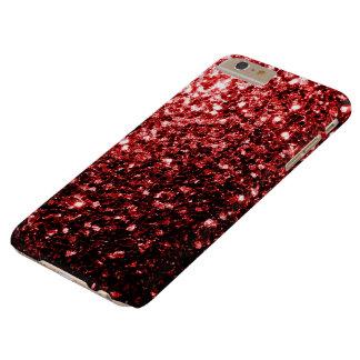 Coque Barely There iPhone 6 Plus Le beau scintillement rouge miroite cas plus de