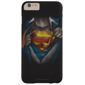 Coque Barely There iPhone 6 Plus Le coffre de Superman | indiquent le croquis