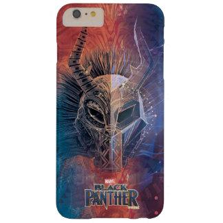Coque Barely There iPhone 6 Plus Le masque tribal noir de la panthère | a recouvert