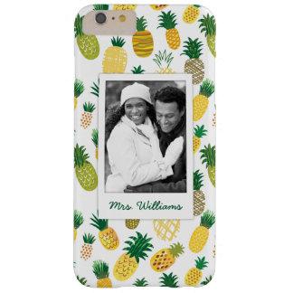 Coque Barely There iPhone 6 Plus Le motif à la mode | d'ananas ajoutent votre photo