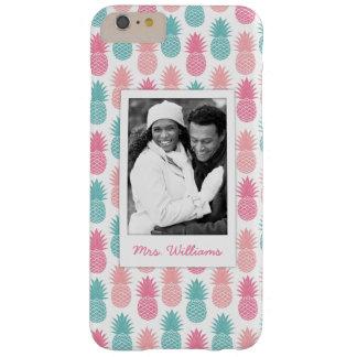 Coque Barely There iPhone 6 Plus Le motif vintage | d'ananas ajoutent votre photo