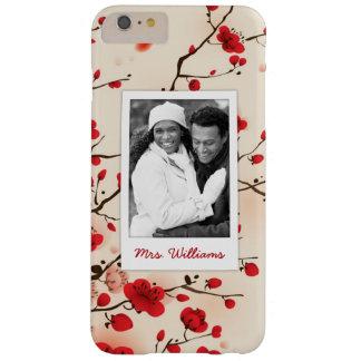 Coque Barely There iPhone 6 Plus Le style oriental de fleur peignant | ajoutent la
