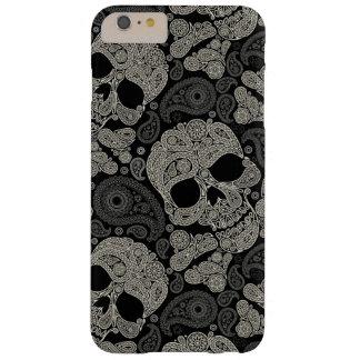 Coque Barely There iPhone 6 Plus Les os croisés de crâne de sucre modèlent le cas