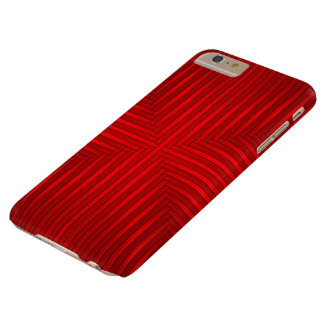 Coque Barely There iPhone 6 Plus Les rayures solides rouges modèlent l'iPhone 6/6s