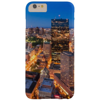 Coque Barely There iPhone 6 Plus L'horizon de Boston au crépuscule