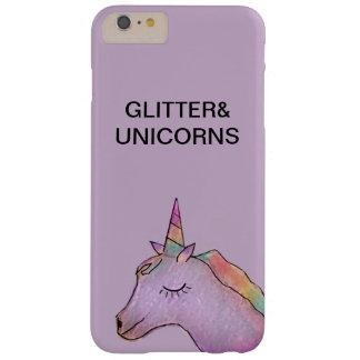 Coque Barely There iPhone 6 Plus Licorne mauve-clair+cas de l'iphone 6 de parties