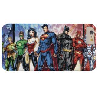 Coque Barely There iPhone 6 Plus Ligne de ligue de justice 52 de la ligue de