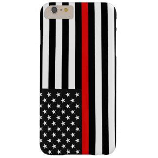 Coque Barely There iPhone 6 Plus Ligne rouge mince drapeau américain