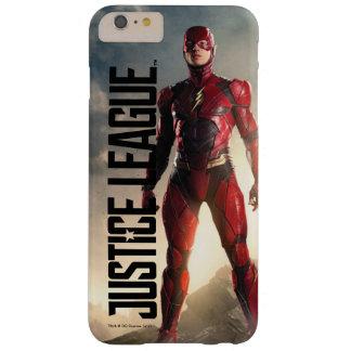 Coque Barely There iPhone 6 Plus Ligue de justice   l'éclair sur le champ de