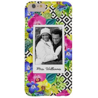 Coque Barely There iPhone 6 Plus L'orchidée et les palmettes | ajoutent votre photo