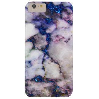 Coque Barely There iPhone 6 Plus Marbre blanc à la mode et rose et scintillement