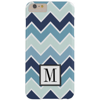 Coque Barely There iPhone 6 Plus Monogramme d'initiale d'impression de Chevron de