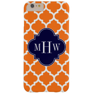 Coque Barely There iPhone 6 Plus Monogramme initial de la marine 3 blancs du