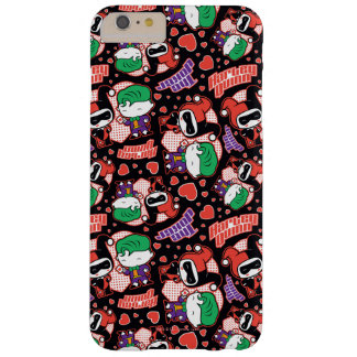Coque Barely There iPhone 6 Plus Motif de coeur de joker et de Harley de Chibi