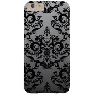 Coque Barely There iPhone 6 Plus Motif noir et gris de damassé