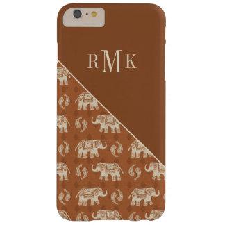 Coque Barely There iPhone 6 Plus Motif orange de caravane d'éléphant
