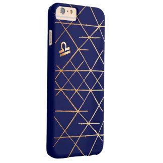 Coque Barely There iPhone 6 Plus Or de zodiaque de Balance et cas géométriques de