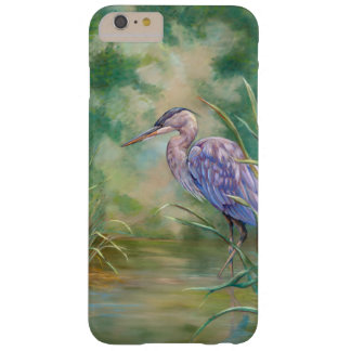 "Coque Barely There iPhone 6 Plus Peinture en pastel de héron bleu de ""solitude"" -"
