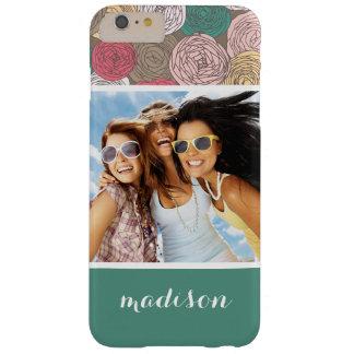 Coque Barely There iPhone 6 Plus Photo faite sur commande et motif floral élégant