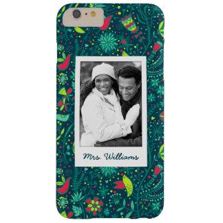 Coque Barely There iPhone 6 Plus Photo faite sur commande et motif floral nommé