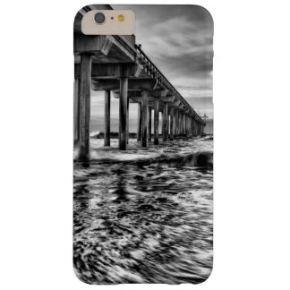 Coque Barely There iPhone 6 Plus Pilier de B&W à l'aube, la Californie