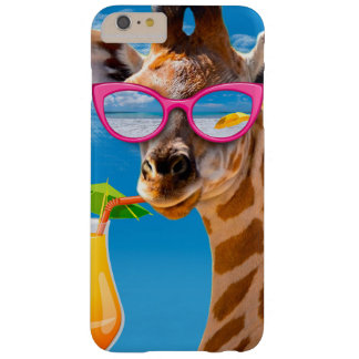Coque Barely There iPhone 6 Plus Plage de girafe - girafe drôle