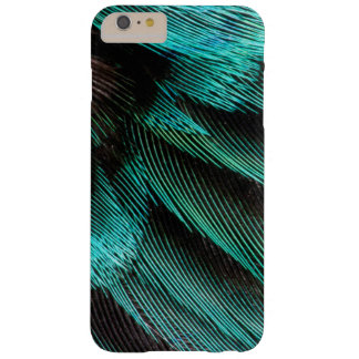 Coque Barely There iPhone 6 Plus Plumes bleues de couvert d'aile