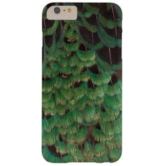 Coque Barely There iPhone 6 Plus Plumes vertes de faisan de Melanistic