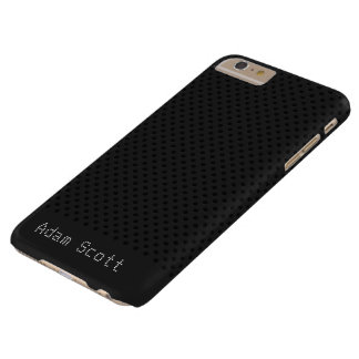 Coque Barely There iPhone 6 Plus Polymère noir de graphite de fibre de carbone de