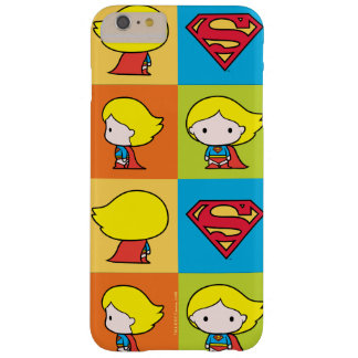 Coque Barely There iPhone 6 Plus Revirement de caractère de Chibi Supergirl