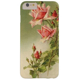 Coque Barely There iPhone 6 Plus Roses roses vintages de jardin pour la