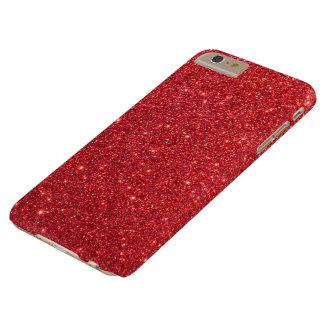 Coque Barely There iPhone 6 Plus Scintillement rouge de houx de Noël