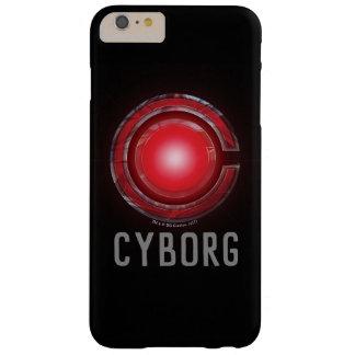 Coque Barely There iPhone 6 Plus Symbole rougeoyant de cyborg de la ligue de