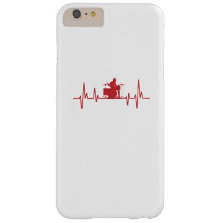 Coque Barely There iPhone 6 Plus Tambours drôles d'amour du battement de coeur I de
