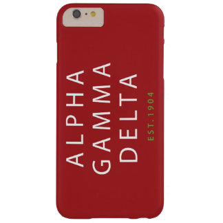 Coque Barely There iPhone 6 Plus Type moderne d'alpha delta gamma