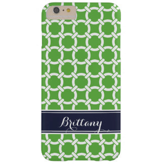 Coque Barely There iPhone 6 Plus Vert et monogramme de très bon goût de liens de