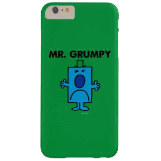 Coque Barely There iPhone 6 Plus Visage de froncement de sourcils de M. Grumpy |