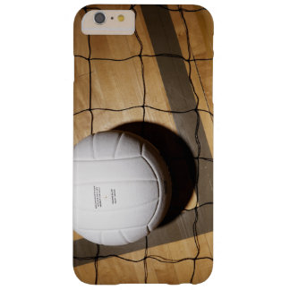 Coque Barely There iPhone 6 Plus Volleyball et filet sur le plancher en bois dur de