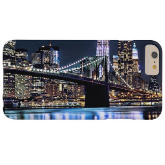 Coque Barely There iPhone 6 Plus Vue de la réflexion de pont de Brooklyn de New