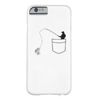Coque Barely There iPhone 6 Poche pêchant le pêcheur drôle de cadeau