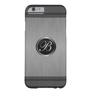 Coque Barely There iPhone 6 Regard métallique en acier de noir masculin de